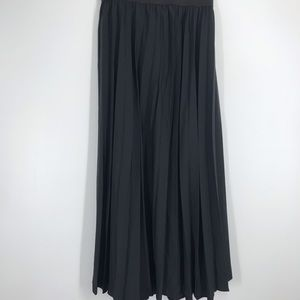 Anthology long pleated black skirt size 18